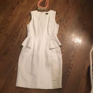 JCrew Linen Peplum Dress